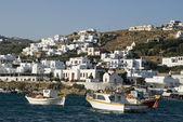 Puerto en las islas griegas — Foto de Stock