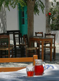 Greek taverna setting — Stock Photo