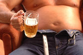 Beer belly — Stock Photo