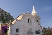 Old church taormina — Stock Photo