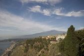 Villa hotel taormina italy — Stock Photo