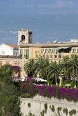 Villa hotel taormina Italië — Stockfoto