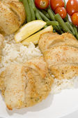 Stuffed fillet of sole — Stock Photo