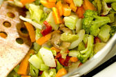 Stir fried vegetables on the range — Stock Photo