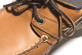 Rugged quality leather moccasin — Stock Photo