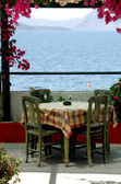 Greek island taverna scene — Stock Photo