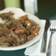 Stock Photo: Lomo saltado peruvian steak