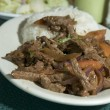 Lomo saltado peruvian steak — Stock Photo #13055798