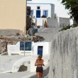 Greek island jogger — Stock Photo