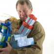 Stock Photo: Mwith presents gifts