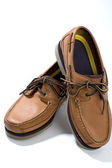 Quality leather casual shoes — Stock Photo