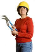 Žena s nástroji — Stock fotografie