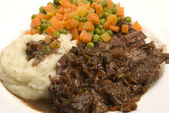Yankee pot roast with gravy — Stock Photo