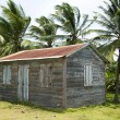 Native house little corn island — Stock Photo