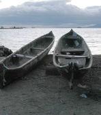 Boats on panama seaside — Stockfoto