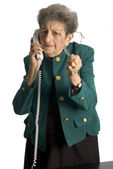 Senior woman telephone — Stock Photo