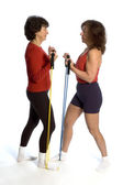 Two women exercising — Stock Photo