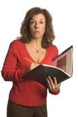Donna d'affari con atteggiamento — Foto Stock