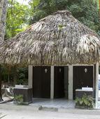 Zewnątrz łazienki tikal gwatemali — Zdjęcie stockowe