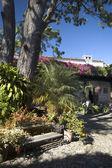 Courtyard in sunshine — Stock Photo
