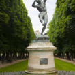Statue of faune dans ant bogene louis lequesne in luxembourg gar — Stock Photo