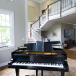 Stock Photo: Grand piano living room