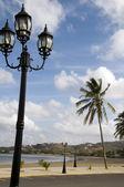 Malecon am meer steg strand san juan del sur nicaragua — Stockfoto