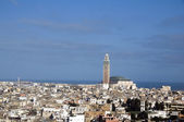 Hassan II mosque cityscape view casablanca morocco — Stock Photo