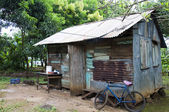 Native house in jungle corn island nicaragua — Stock Photo
