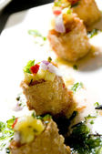 Thai crab cakes appetizer — Stock Photo