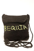 Knitted change purse bag souvenir of bequia — Stock Photo