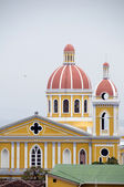 The cathedral of granada nicaragua — Stock Photo