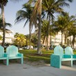 Ocean drive  south beach park miami florida — Stock Photo