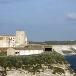 Old City Bonifacio overlooking limestone cliffs Corsica — Stock Photo #13082082