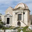 Mausoleum crypts marine cemetery old town bonifacio corsica - Stock Photo