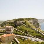 Panorama Bonifacio Corsica harbor port G-20 trail historic lowe — Stock Photo #13082502