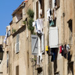 Stock Photo: Laundry drying medieval architecture bonifacio corsica