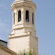Bell tower spire agia napa greek orthodox cathedral lemesos cyprus - Stock Photo