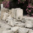Stone castle artifacts Limassol Castle Cyprus — Stock Photo