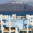 Restaurant view of santorini — Stock Photo