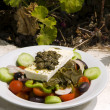 Stock Photo: Greek salad in sunlight Santorini