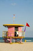 象徴的なライフガード ビーチ小屋サウス ビーチ マイアミ — ストック写真