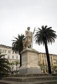 Napoleon statue Bastia Corsica — Stock Photo