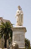 Statue napoleon bonaparte ajaccio corsica france — Stock Photo
