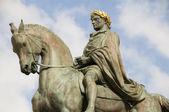 Statue Napoleon Diamant Square Ajaccio Corsica — Stock Photo
