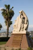 Statue homage to the resistance ajaccio corsica france — Stock Photo