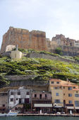 The citadel fortress medieval architecture bonifacio corsica — Stock Photo