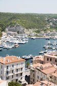 Port marina basse ville bonifacio corse — Photo
