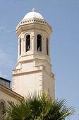 Bell tower torenspits agia napa griekse orthodoxe kathedraal lemesos cyprus — Stockfoto