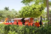 Tourist children train park Limassol Cyprus — Stock Photo